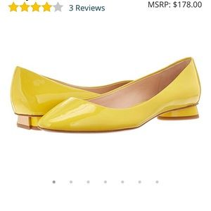 Yellow Patent Leather Kate Spade flats